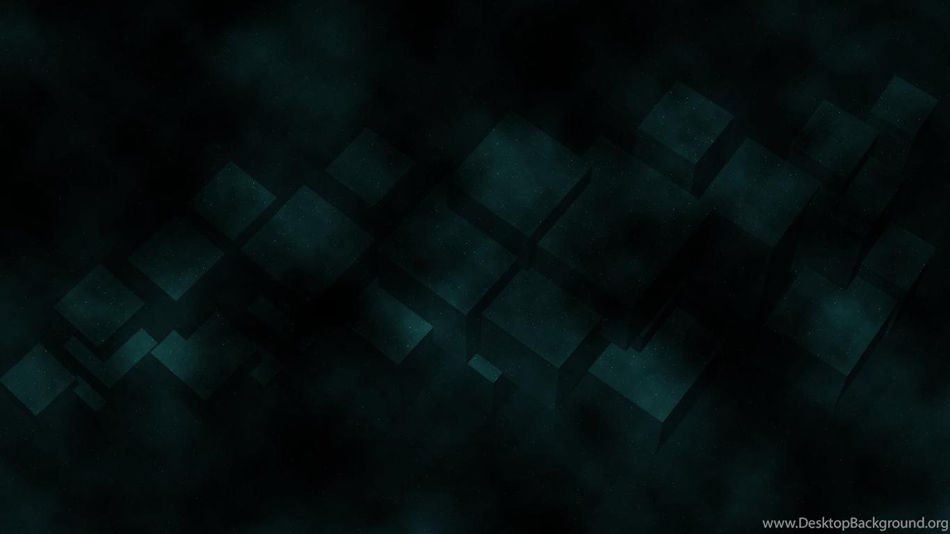 Abstract Cubes Dark Green Wallpapers Desktop Background
