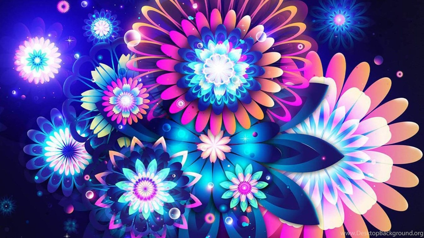 Colorful Abstract Flowers Wallpapers For Desktop And