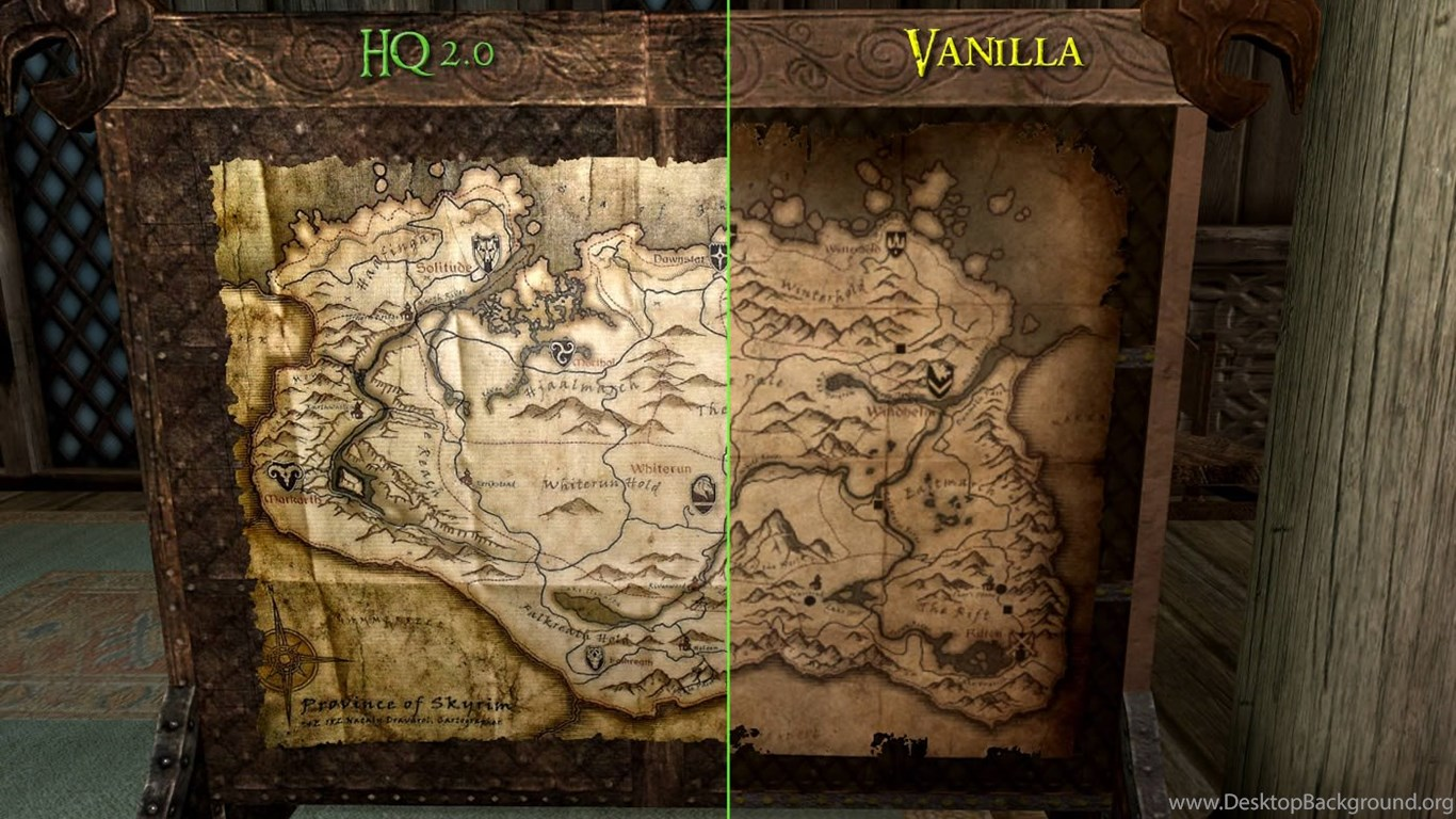 HQ Skyrim Map V2 At Skyrim Nexus Mods And Community Desktop Background