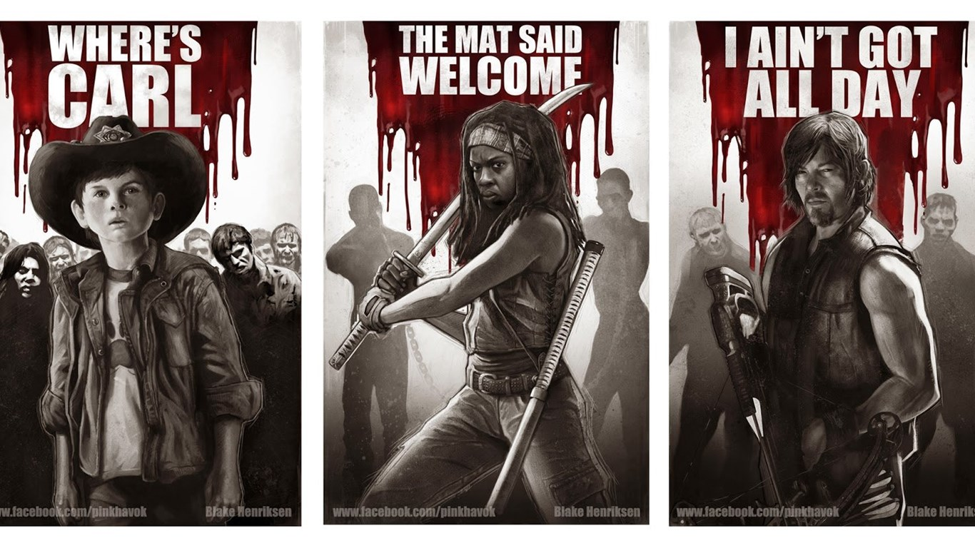 Walking Dead Prints The Walking Dead Wallpapers 37558869 Fanpop