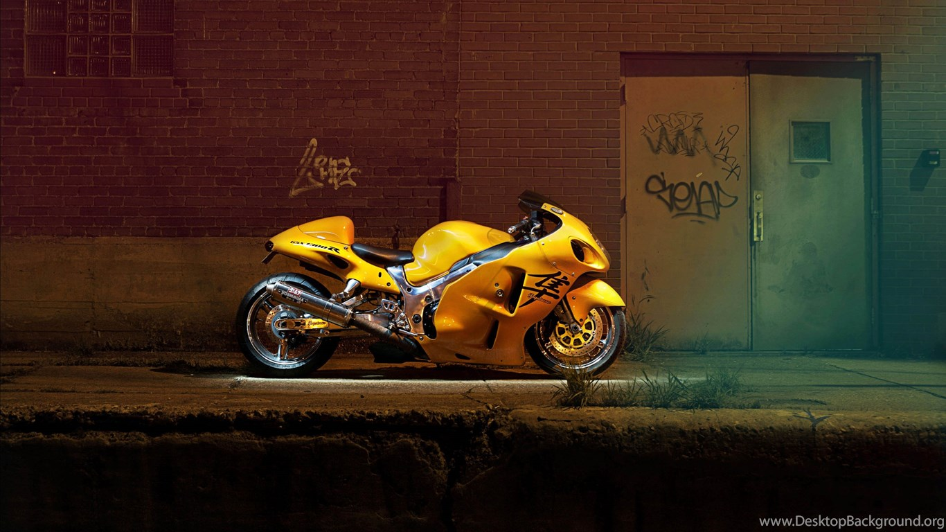 Download Hayabusa Suzuki Gsx1300r Sony Ericsson Wt18i Hd: Yellow Suzuki Hayabusa Ready For Street Racing 3840x2160