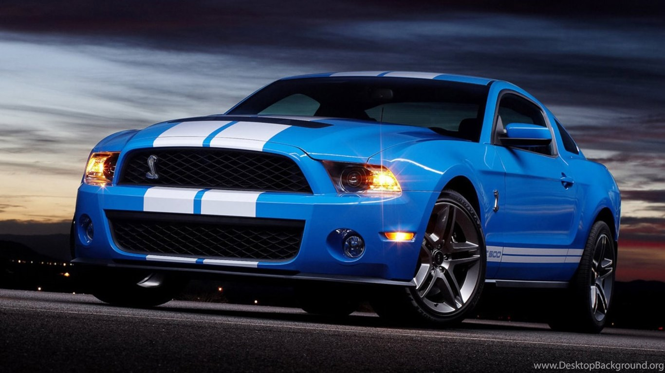 Download Cool Picture Blue Mustang Shelby Gt500 Cobra Muscle Sport Desktop Background
