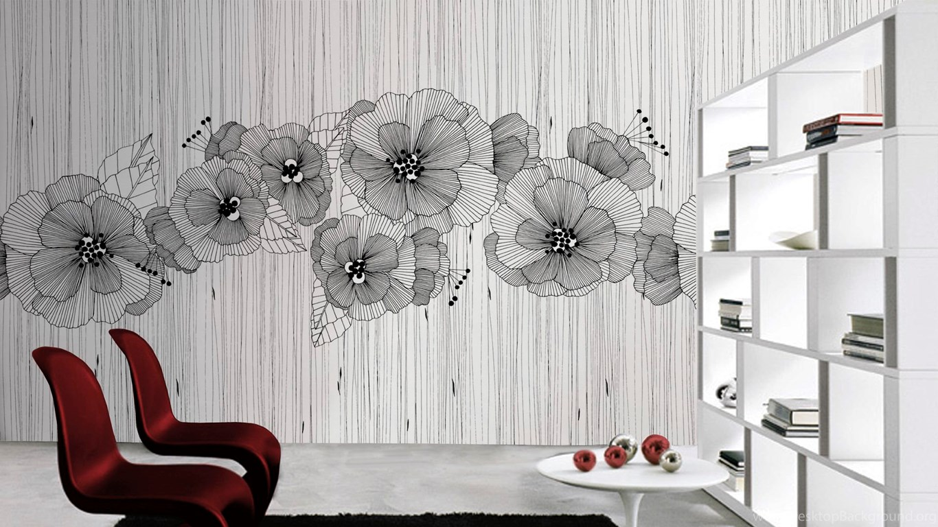 Vinyl Wallpapers Contemporary Floral Non Woven Manhattan