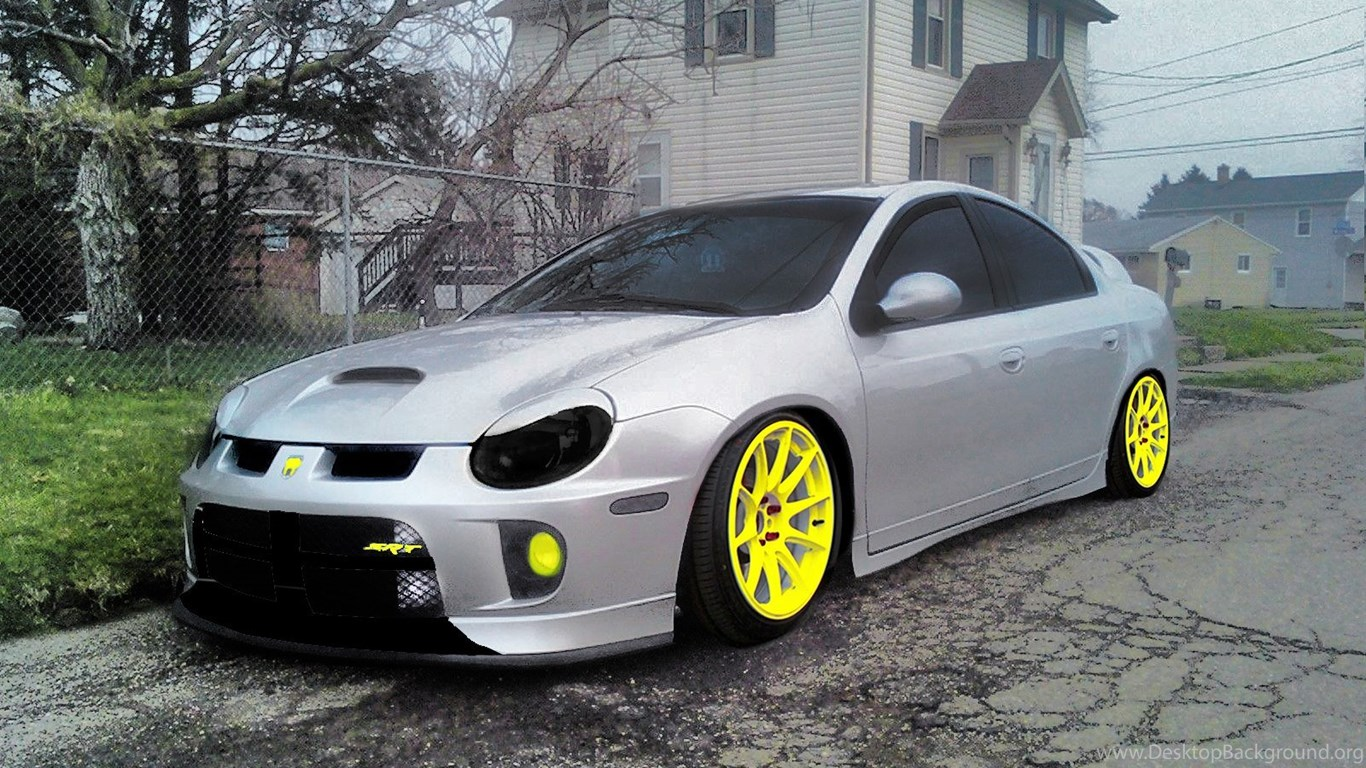 dodge neon srt 4 slammed image desktop background. Black Bedroom Furniture Sets. Home Design Ideas