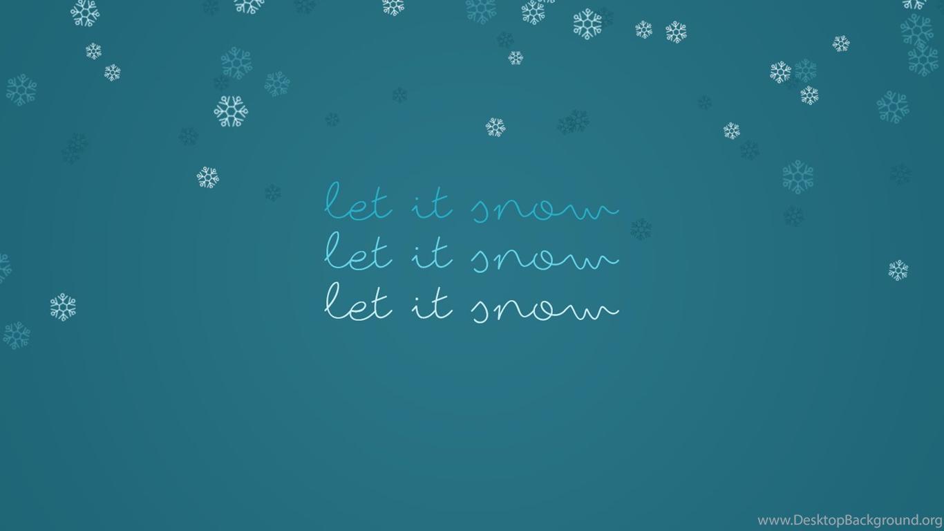 Let It Snow Free Desktop Wallpapers Andrea The Designer