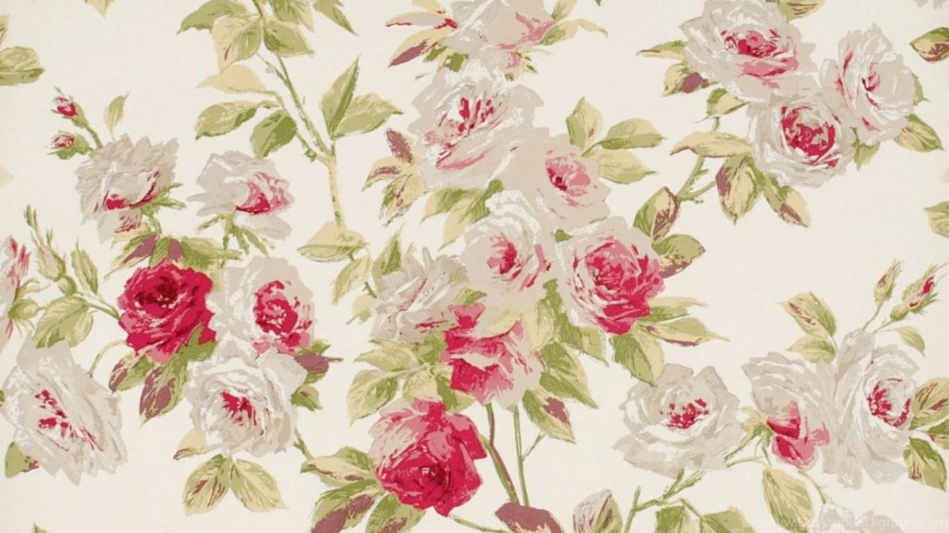 Vintage Floral Desktop Desktop Background