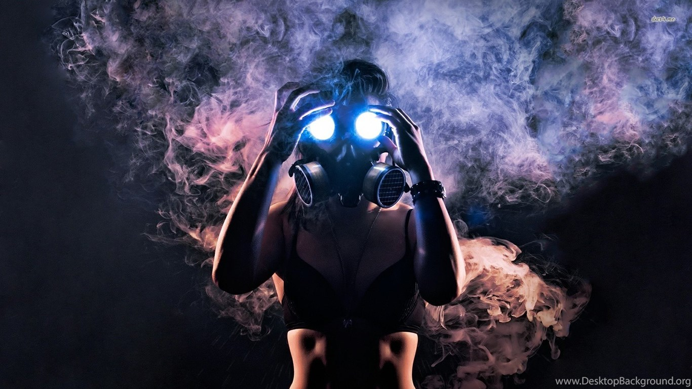 15291 Woman In Gas Mask 1920x1080 Photography Wallpapers