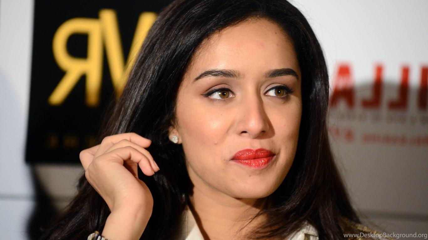 Beautiful Actress Shraddha Kapoor In Red Lips Hd Wallpapers Desktop