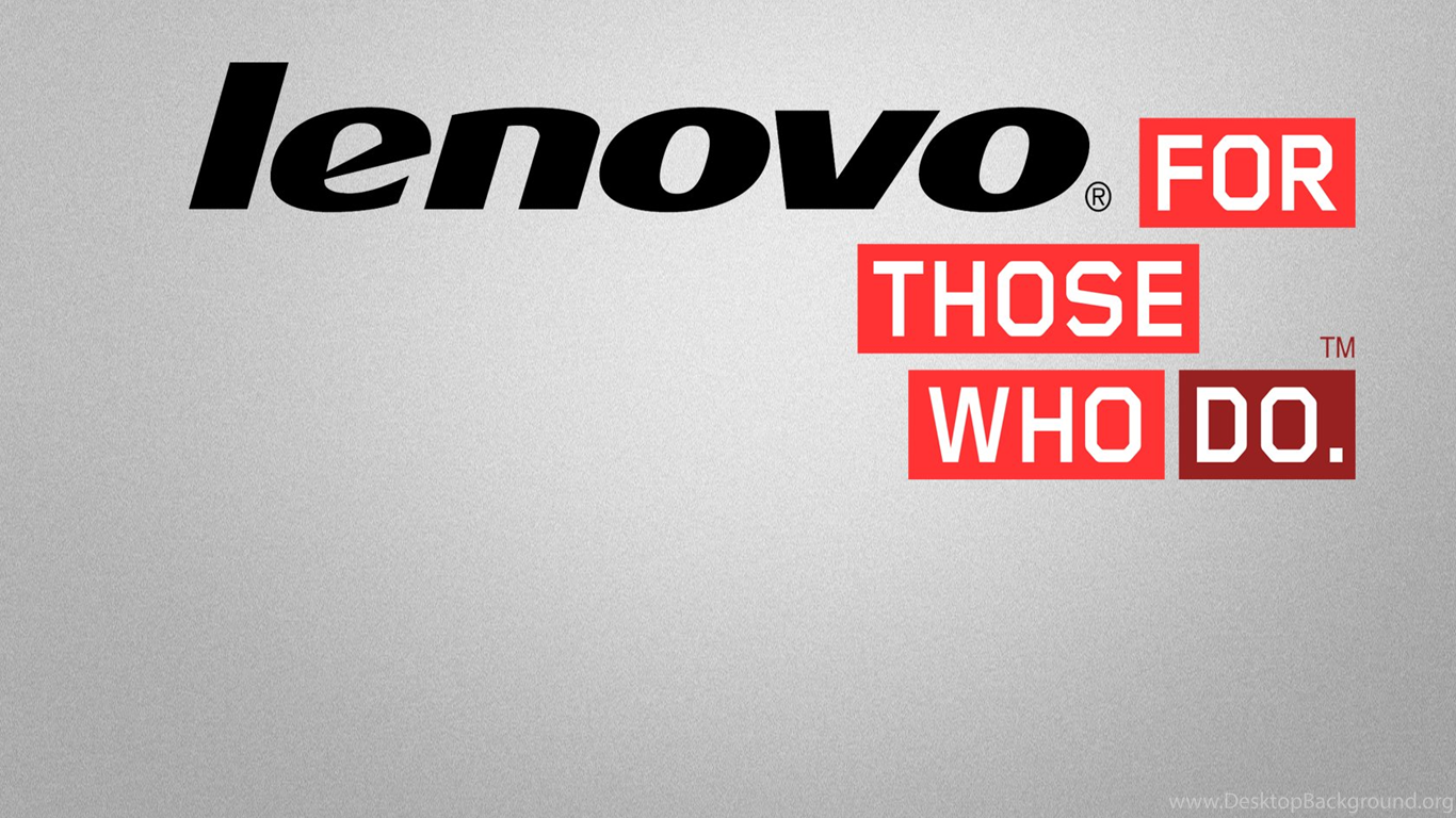 Lenovo For Those Who Do Logo Desktop Wallpapers Background