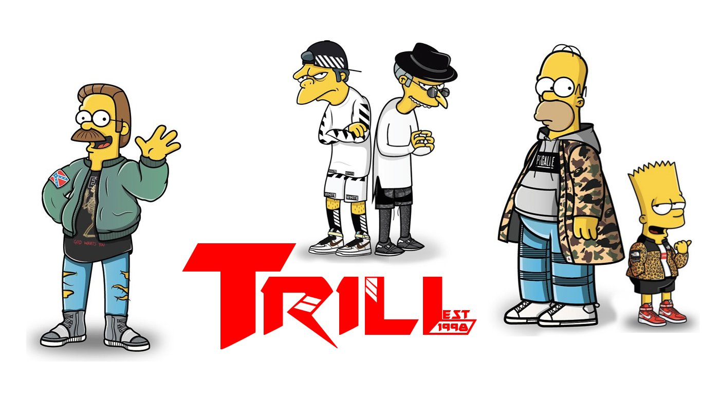 So I Tried To Make A Wallpapers Out Of The Simpsons