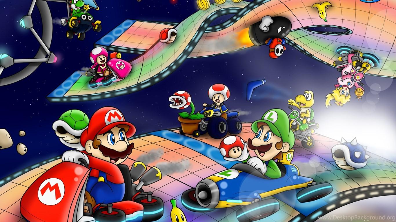 Mario Kart 8 Background: 11 Mario Kart 8 HD Wallpapers Desktop Background