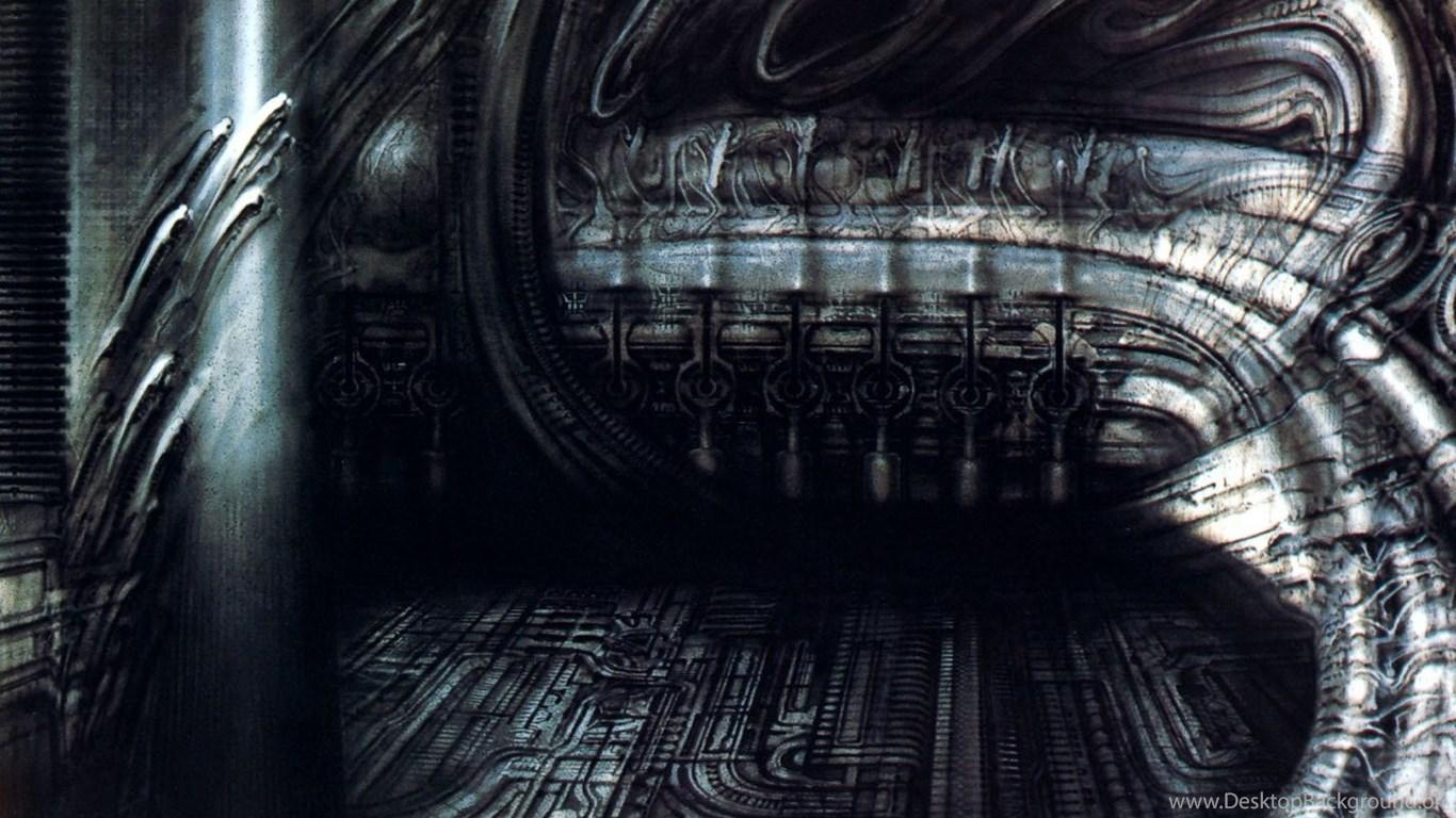 Biomechanical Landscape 007 Surrealist H R Giger Art ...