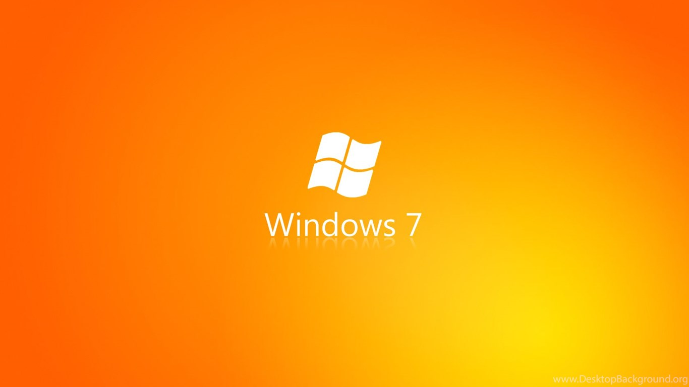 orange windows 7 wallpapers desktop background