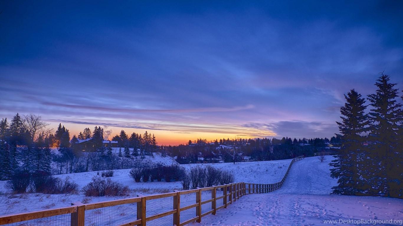 Snow Landscape Winter Wallpapers For Desktop 4k Resolution Desktop Background