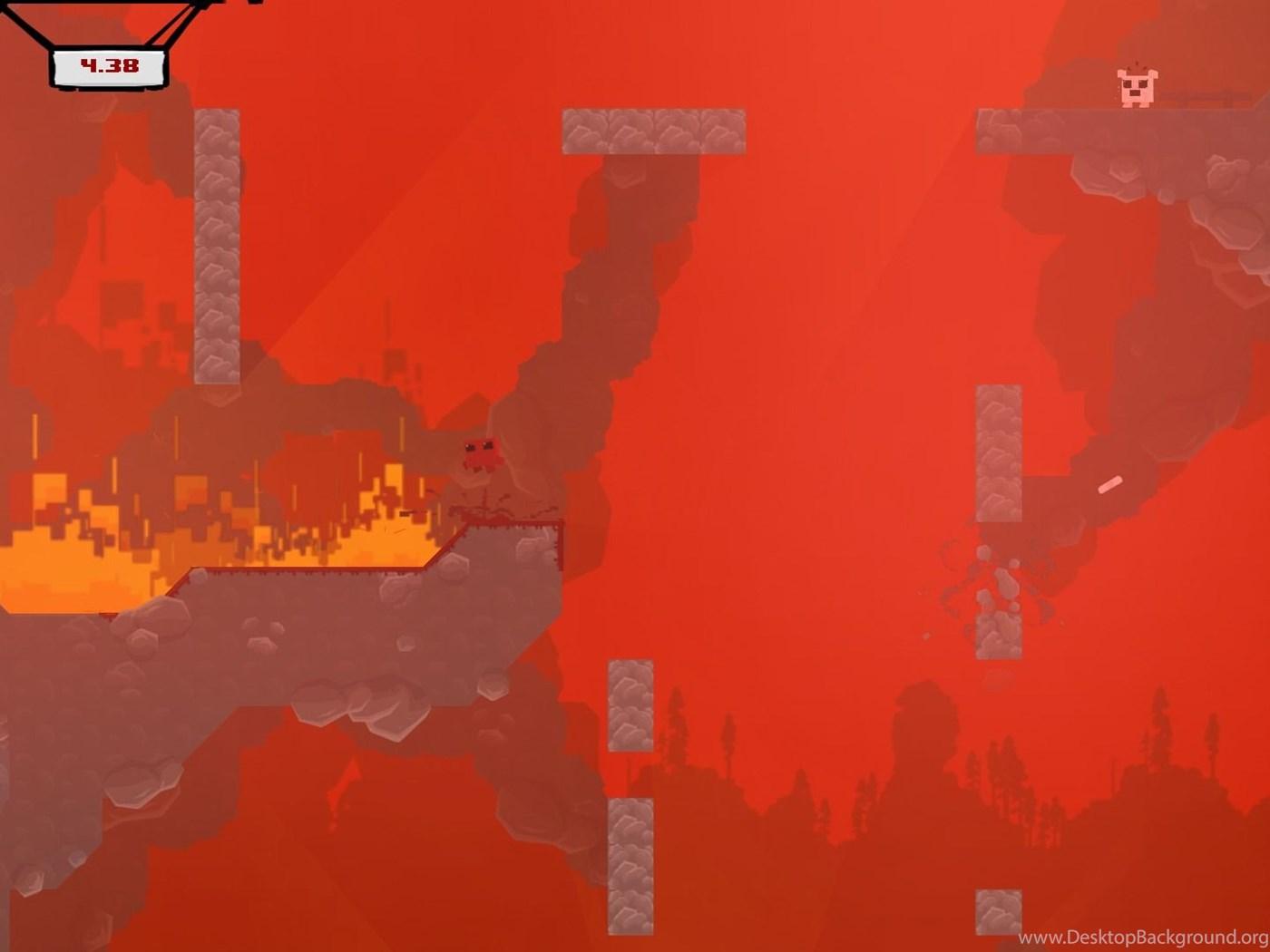 Super Meat Boy Review Desktop Background