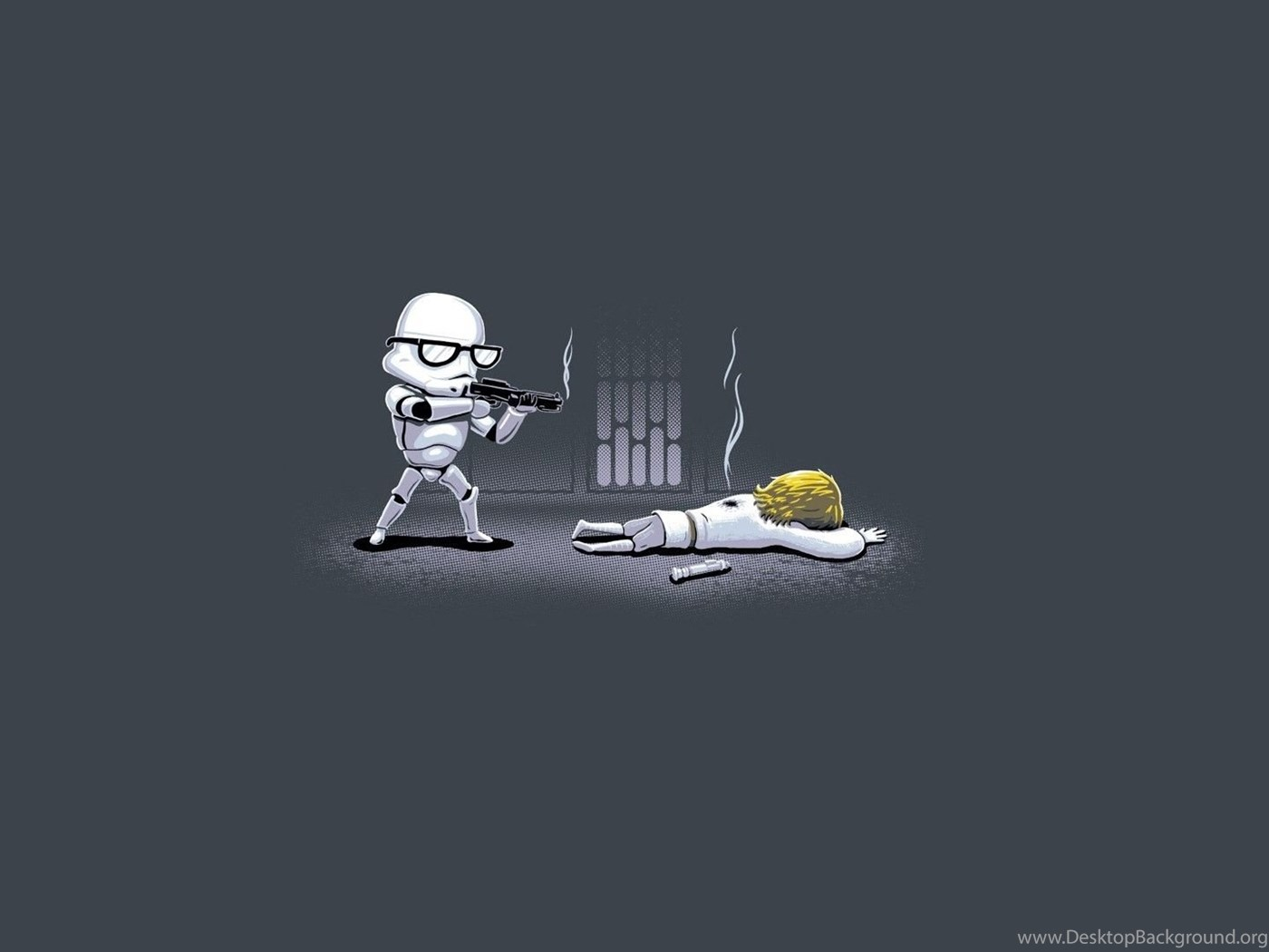 Minimalist Star Wars Fun Comic Wallpapers Desktop Background