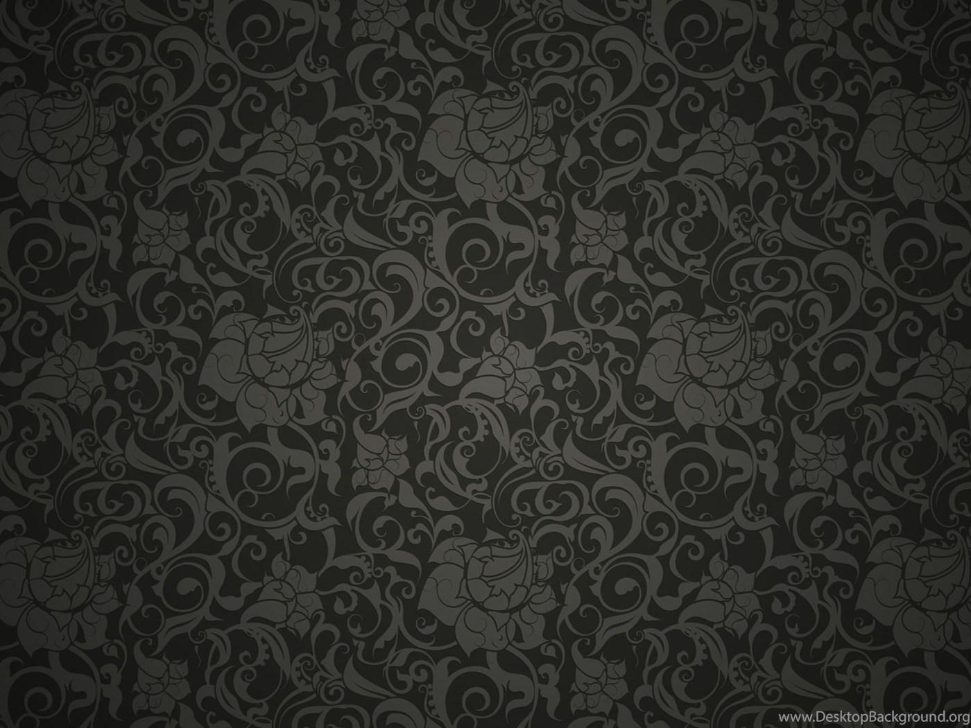 Black Floral Pattern Wallpapers Desktop Background