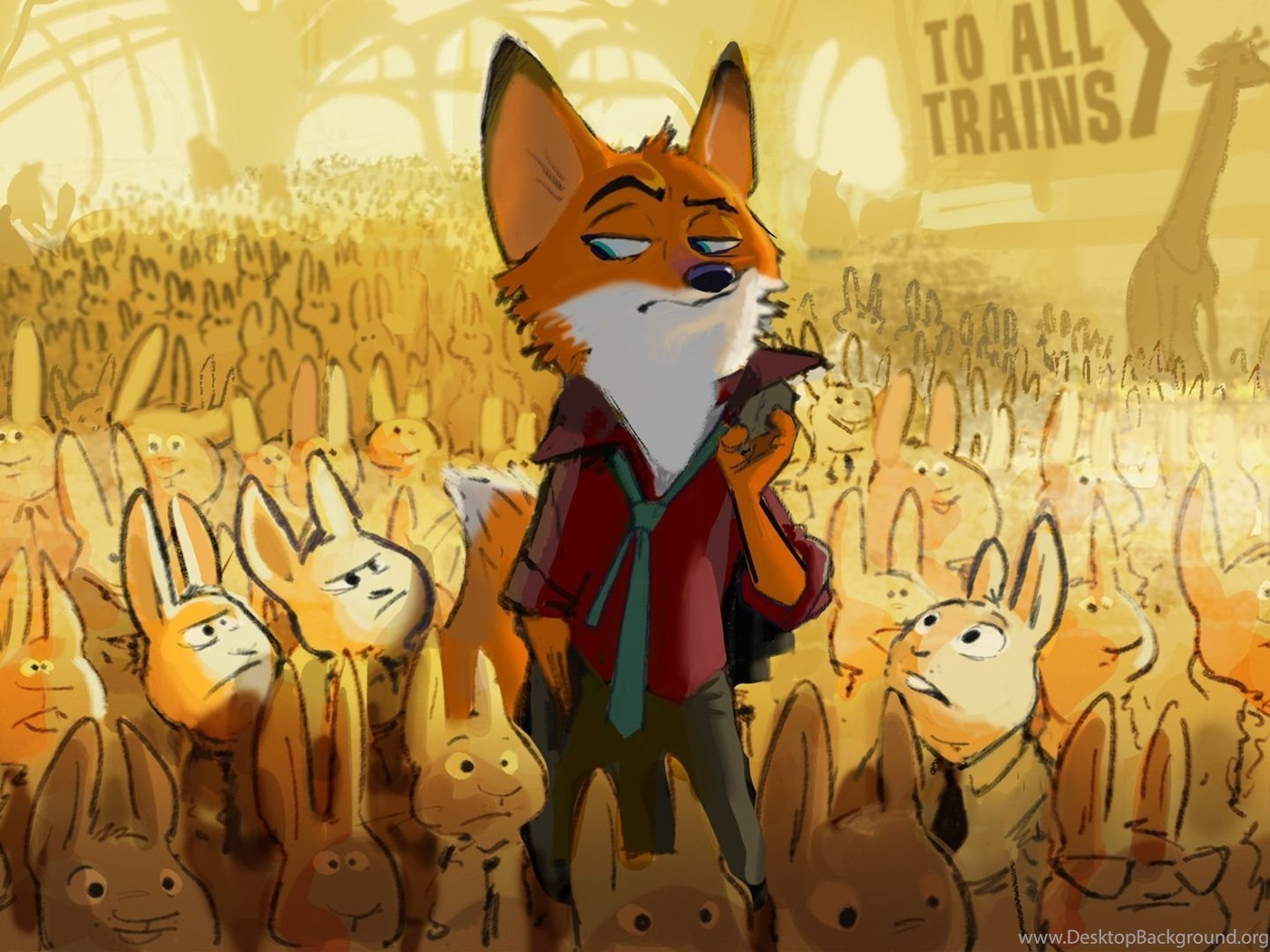 1920x1080 2016 Zootopia Disney Zootopia Movie Fox Hares Desktop Background