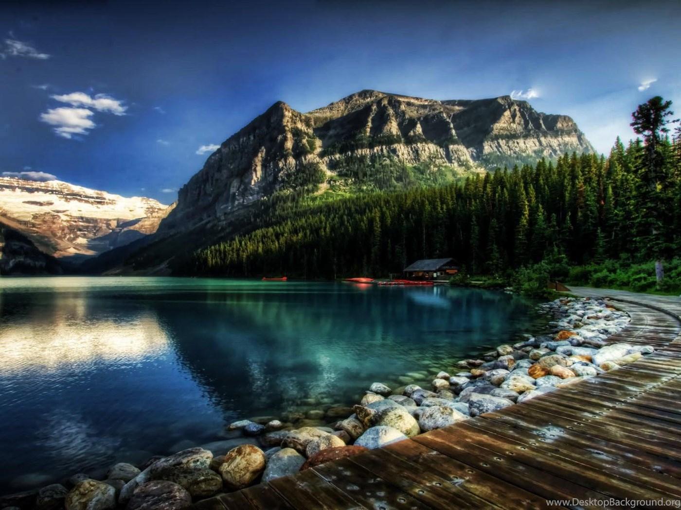 Fantastic Lake Louise In Alberta Canada Hdr Wallpapers Hd