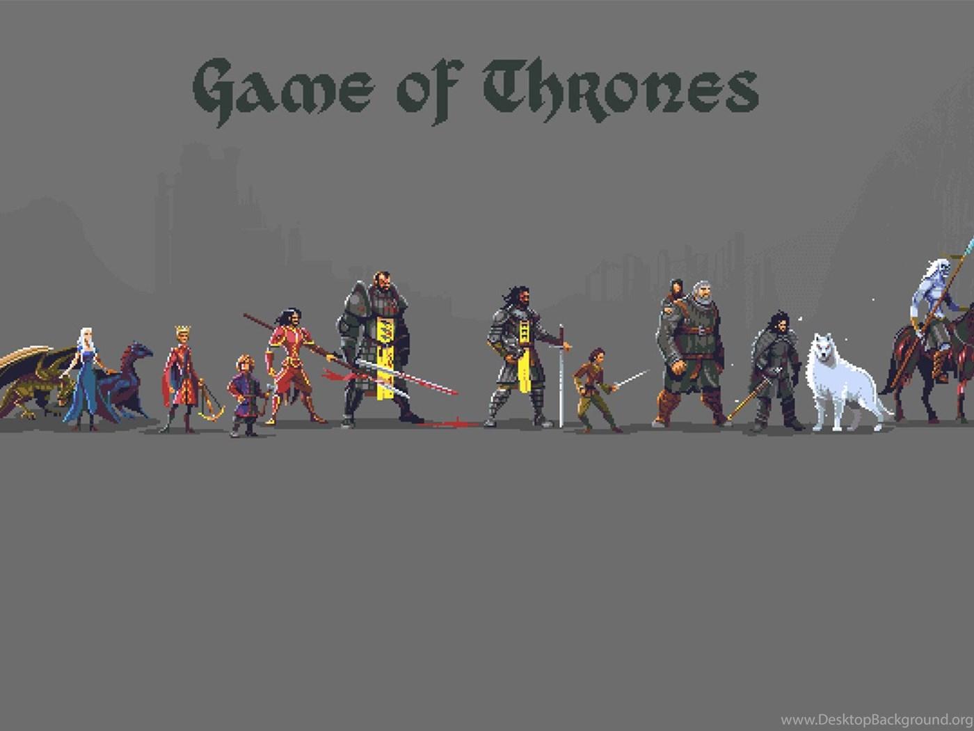 Game Of Thrones Pixel Art 1920x1080 Wallpapers Desktop Background