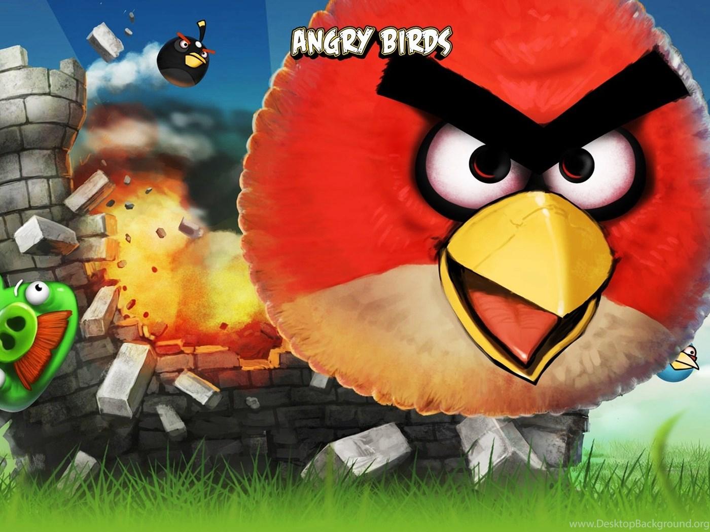 Green angry bird wallpaper