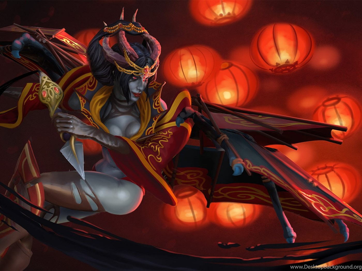 New Bloom Inspired Queen Of Pain Set With Hd Wallpapers Dota2