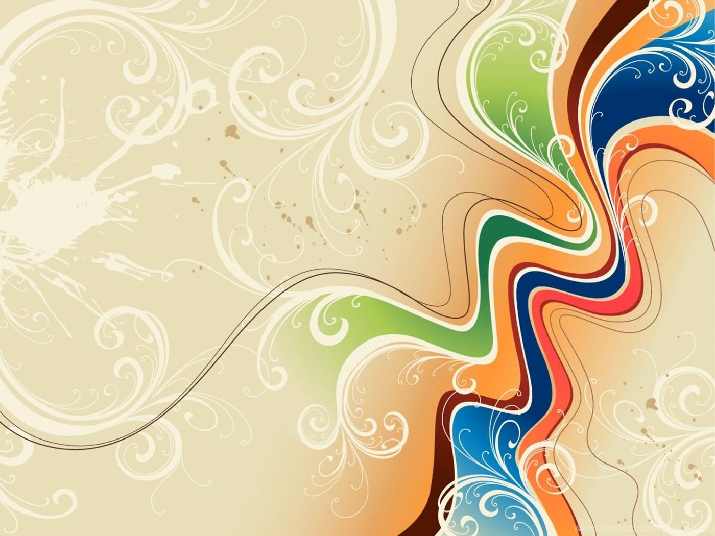 Classic Colorful 3d Floral Design Wallpapers Desktop Background