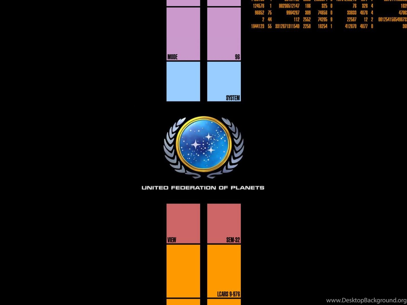 Federation Lcars Star Trek Star Trek Logos United Federation Of