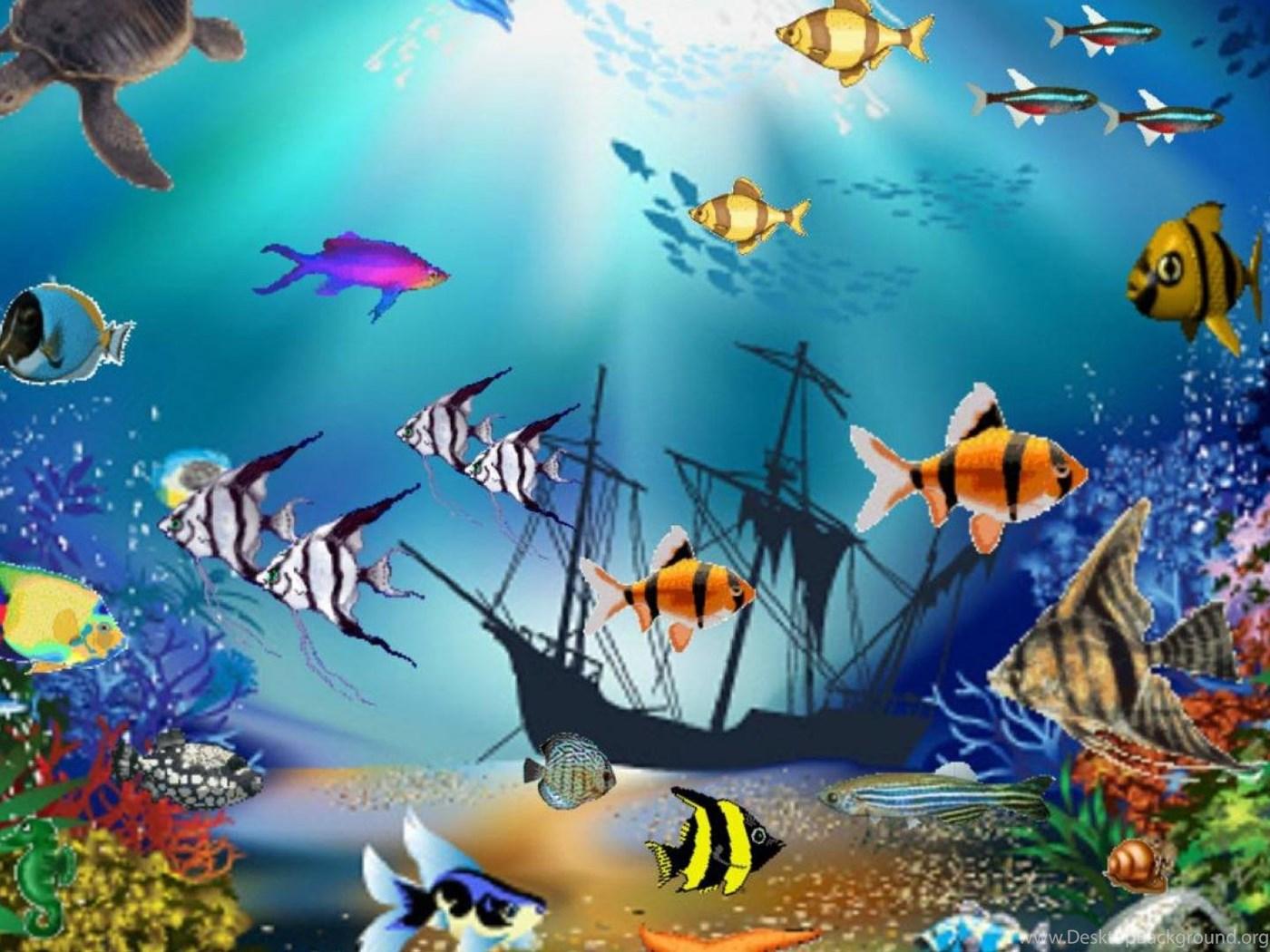 Картинки на рабочий стол анимация рыбки