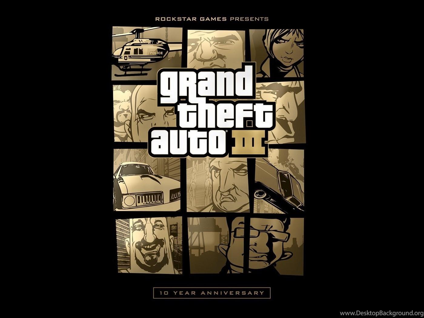 Grand Theft Auto Rockstar Games Anniversary Iii Wallpapers