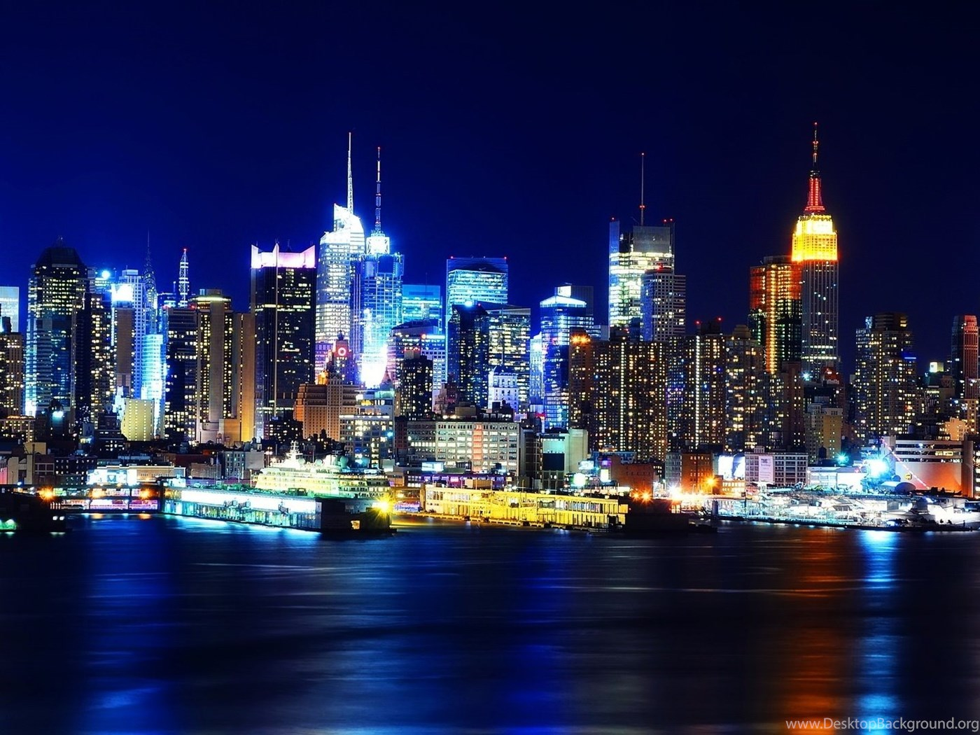 New York City At Night Wallpapers Hd Wallpaper Backgrounds