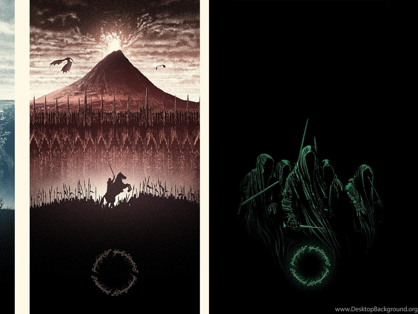 Marko Manev LotR Trilogy Dual Screen Wallpapers 3840x1080 Lotr