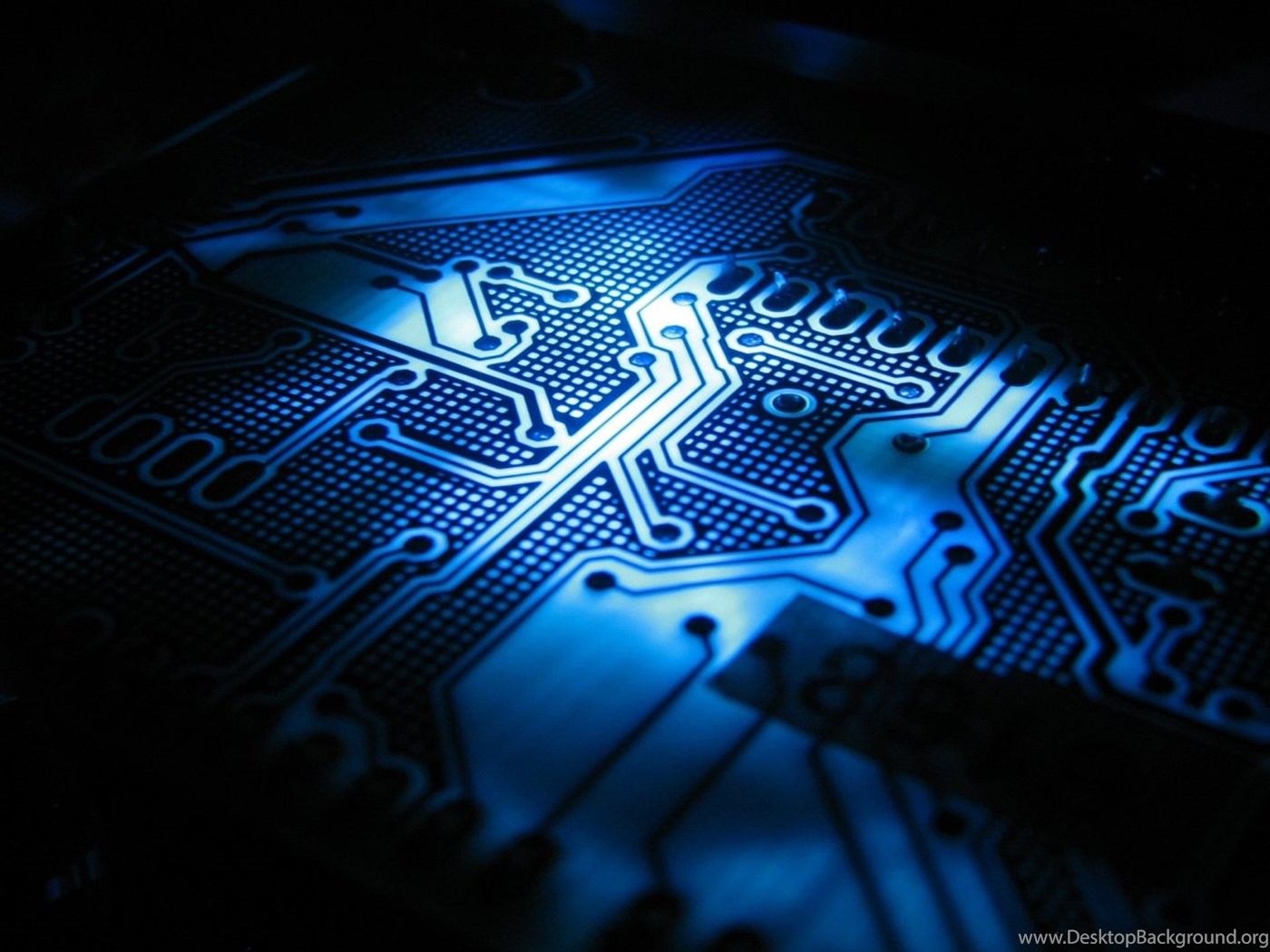 Blue Circuit Board Wallpapers Desktop Background