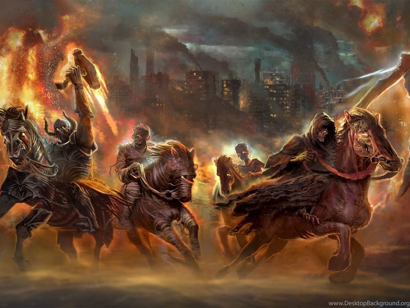 Four Horsemen Of The Apocalypse Wallpapers Walldevil Best Free