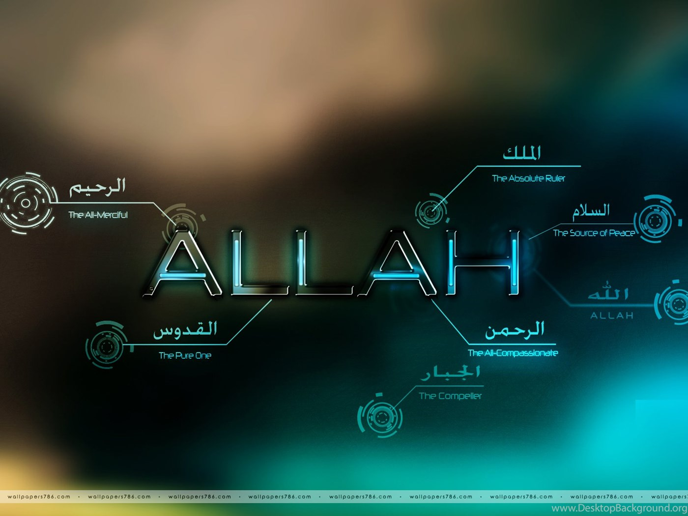 Allah name wallpapers hd free download islamic wallpapers desktop background - Name wallpapers free download ...