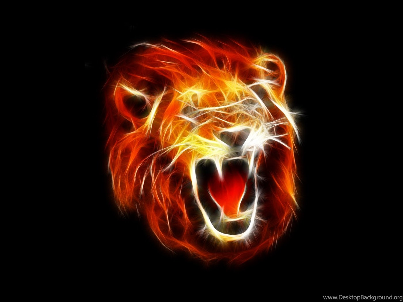 970885 awesome 3d lion wallpapers fire black