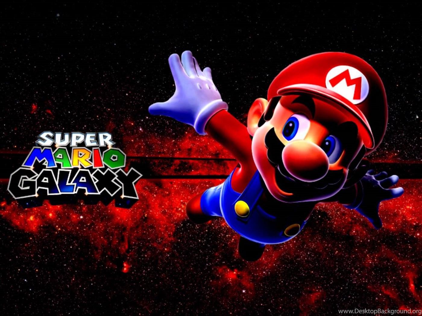 Super Mario Bros Wii Super Mario Galaxy 1 2 Wallpapers Hd