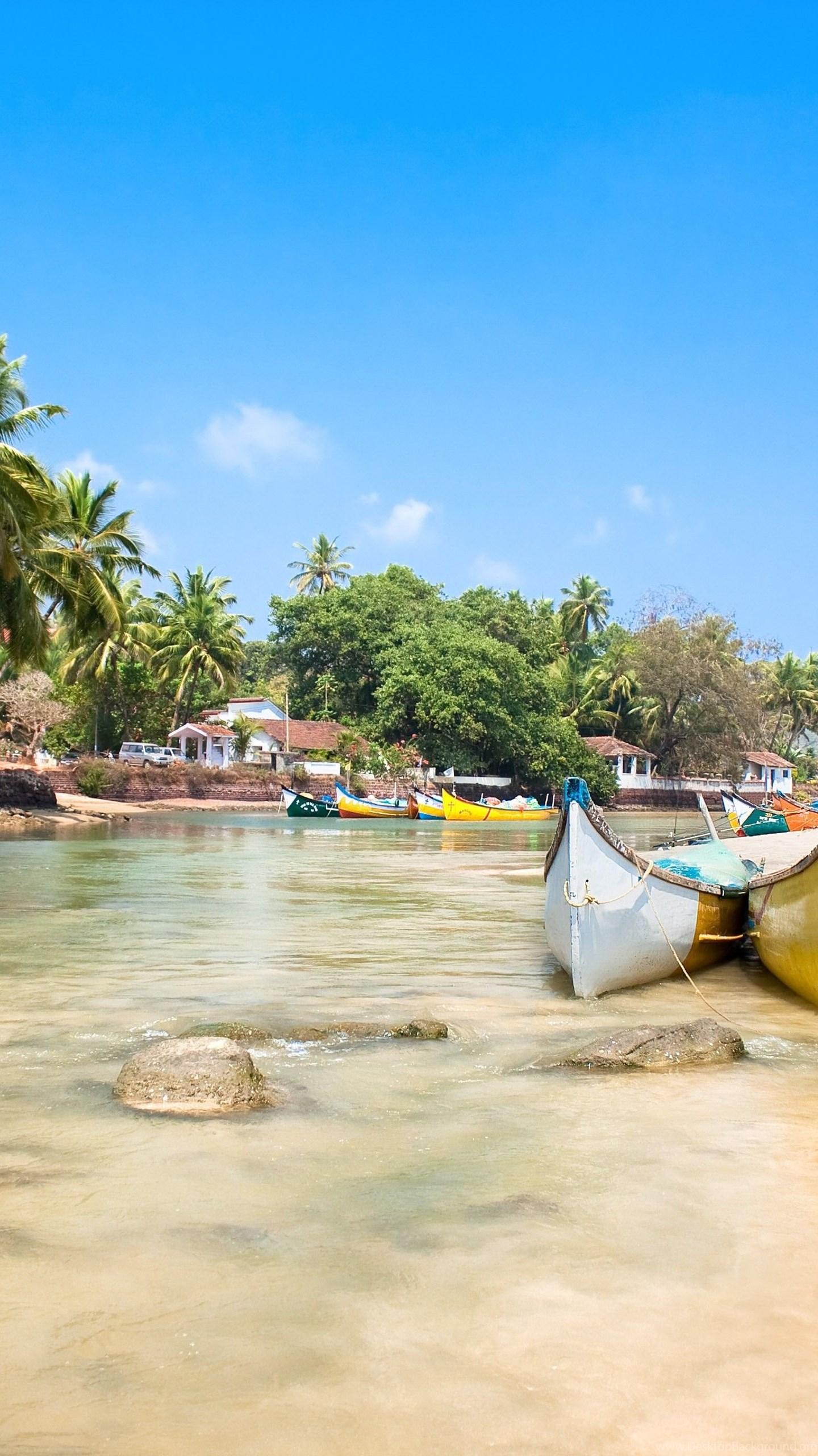Goa Wallpaper Nature Water Goa India Indian Ocean Palms Desktop Background