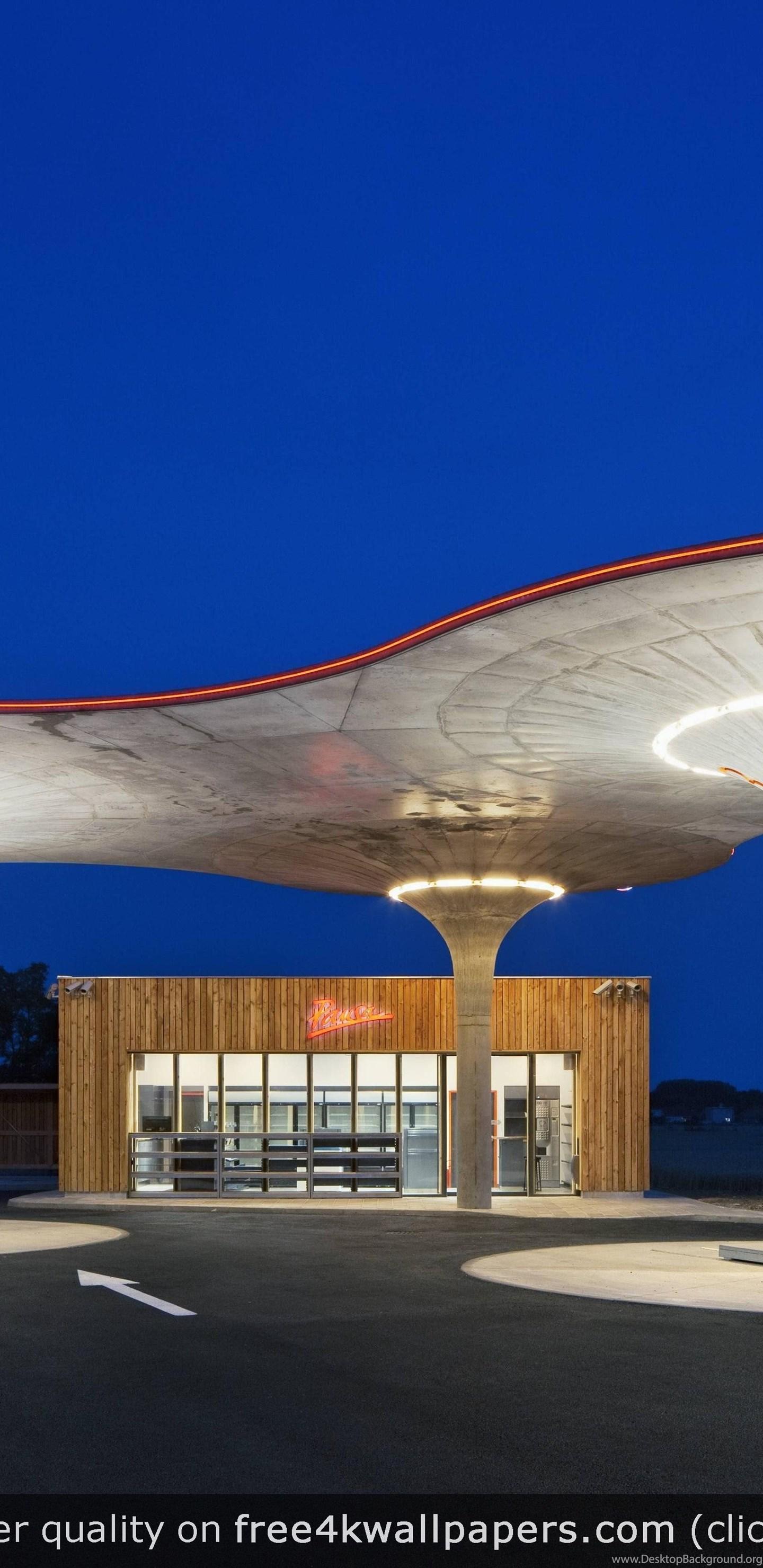 Gas Station In Slovakia 4K Wallpapers Desktop Background