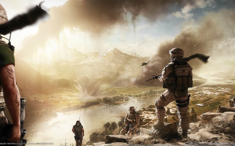 Military Background War River Desktop Background