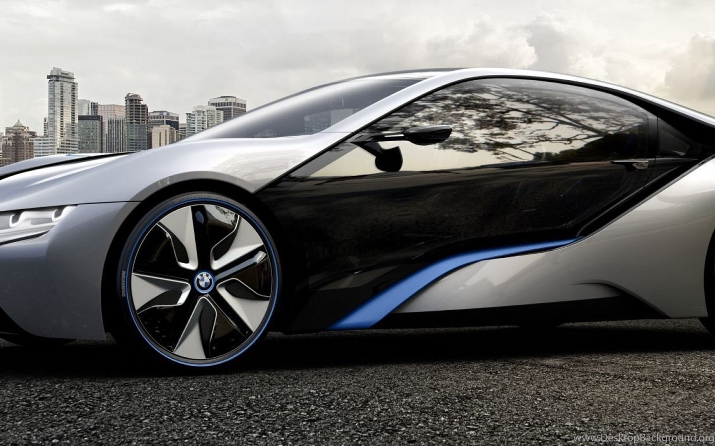 Download Wallpapers 2560x1024 Bmw I8 Concept Car Dark Dual
