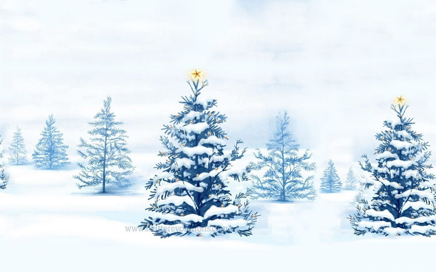winter snowy christmas trees twitter backgrounds