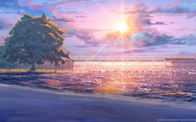 Top Anime Summer Landscape Images For Pinterest Desktop ...