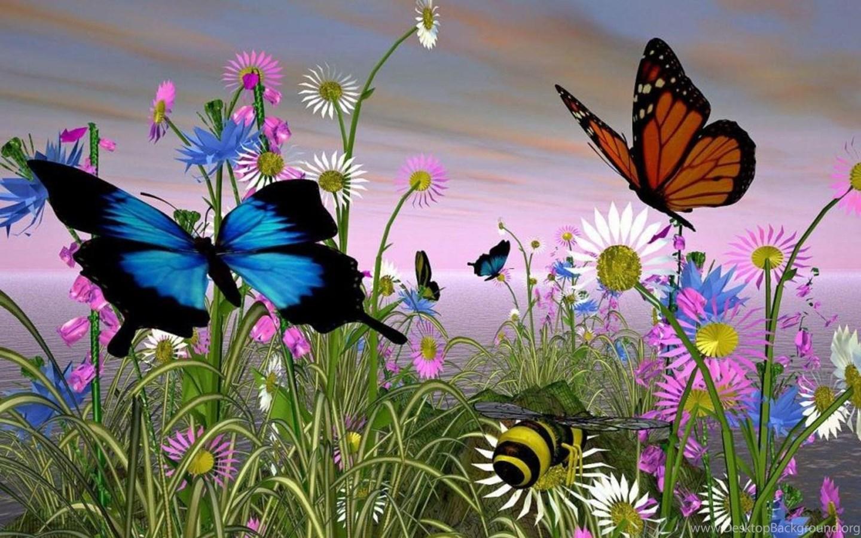 Поздравлением, красивые картинки цветов и бабочек с анимацией