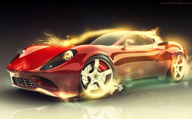 10 Gambar Wallpaper Keren Mobil Ferrari Desktop Background