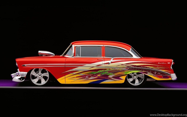 Cars 1956 Custom Chevy Bel Air Desktop Wallpapers Nr 18406