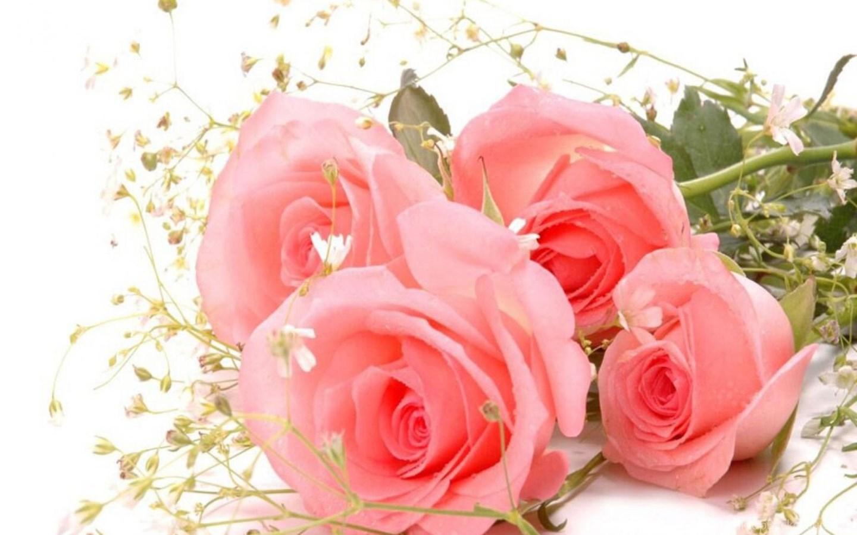 С днем рождения женщине открытки с розами белыми или розовые, днем рождения