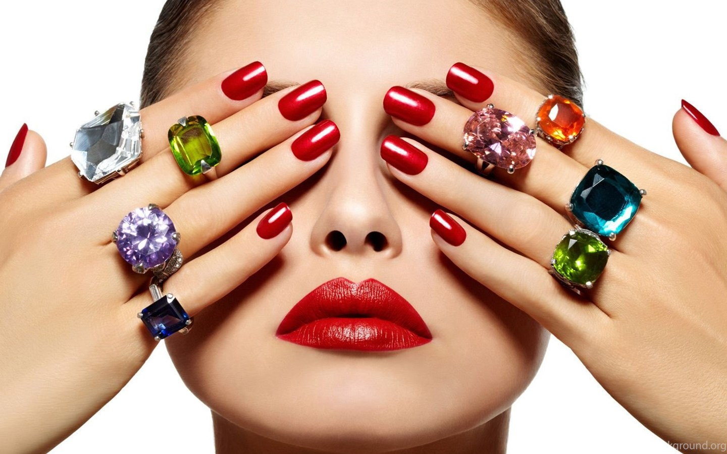 Beautifull Ladies With Red Nail Art Wallpapers My Free Wallpapers