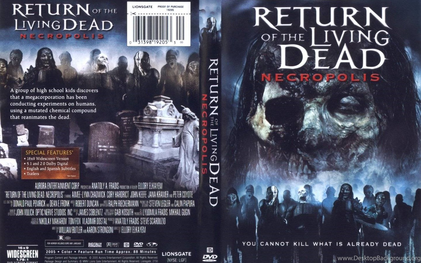 Return Of The Living Dead Necropolis Dvd Cover Zombies Images, Photos, Reviews