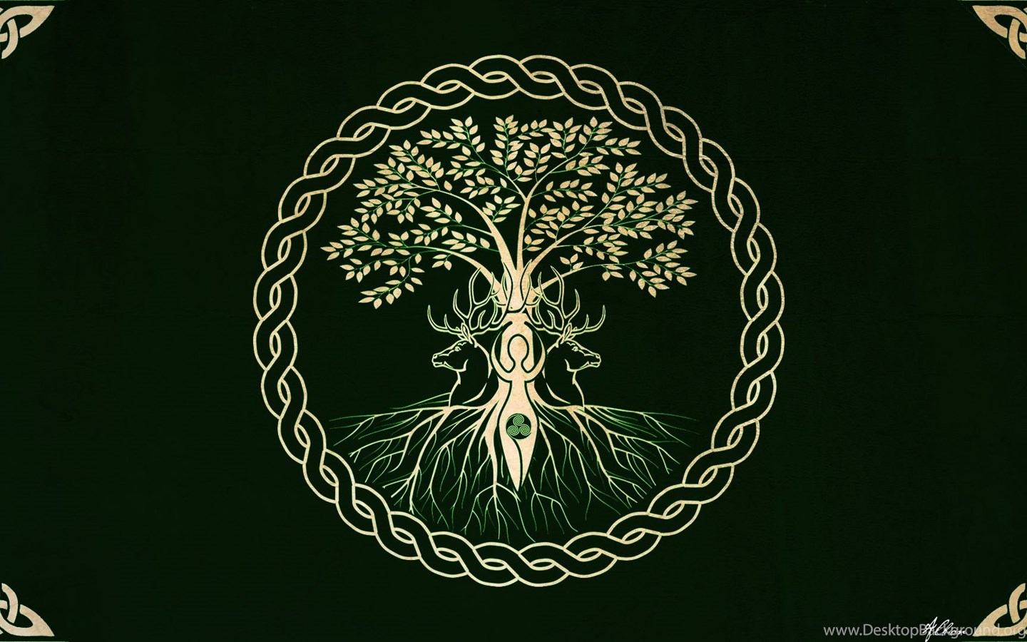 Pagan Wallpaper For Android: The Tree Wallpapers Version By The Pagan Gallery On